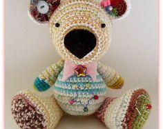 Star The Bear Jointed Hand Made Crochet Amigurumi Doll