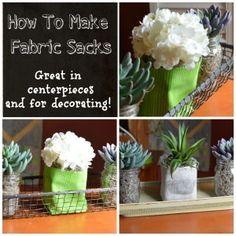 How To Make Fabric Sacks