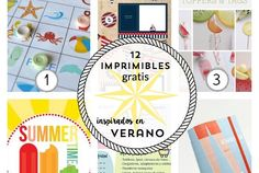 12 imprimibles gratis inspirados en el verano : via MIBLOG