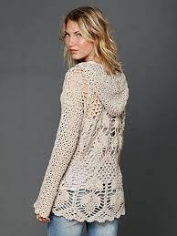 Resultado de imagen para chompa con capucha a crochet