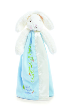 """Mermaids by the Sea Toys - Bunnies by the Bay """"Bud's Buddy Blanket- Baby Blue"""" 210712, $28.00 (http://www.mermaidsbytheseatoys.com/bunnies-by-the-bay-buds-buddy-blanket-baby-blue-210712/)"""