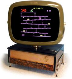 """The iconic 1950's Predicta TV was resurrected in 1997 bringing color to retro gaming. These TVs from the 50's are highly collectable, but wouldn't you like a shiny new color Predicta? Set that Atari 2600 switch back to """"Color""""!  Read more: http://www.8-bitcentral.com/blog/2013/predictaTV.html#ixzz2levT2gOL"""