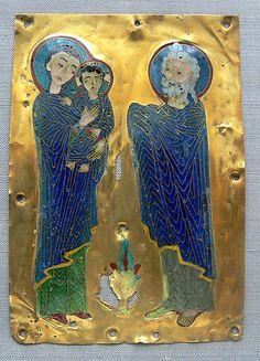 Byzantine enamel-Darbringung Christi, byzantinisch, Goldzellenschmelz; 12. Jh. Kunstgewerbemuseum Berlin, Inv.-Nr. 27,19