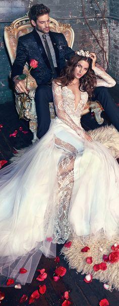 "Wedding Dress by Galia Lahav ""Les Reves Bohemians"" GORGEOUS Couple/PHOTO Bella Donna's LuxeDesigns"