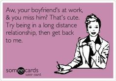 In a long distance relationship and need some more funny in life? Here are 25 genuinely funny long distance relationship quotes to brighten your day. Quotes For Your Boyfriend, Boyfriend Quotes Relationships, Relationship Quotes For Him, Relationship Questions, Boyfriend Humor, Long Distance Relationship Memes, Long Distance Quotes, Long Distance Love, Distance Relationships