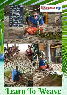 Join our weaving master and learn to weave a basket or a hat! You don't need a beach bag or a  hat - use a COCONUT leaves!