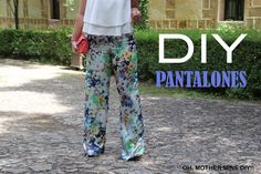 DIY Costura: Como hacer pantalones pata de elefante (patrones y moldes gratis). Patrones o moldes de estos pantalones en varias tallas, gratis en el blog. De...