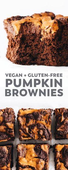Vegan Pumpkin Cookies, Pumpkin Brownies, Gluten Free Pumpkin, Pumpkin Dessert, Vegan Pumpkin Bread, Pumpkin Spice, Vegan Dessert Recipes, Healthy Pumpkin Recipes, Fall Recipes