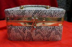 Vintage All Season 1960s Unusual Box Bag with by blingblingfling