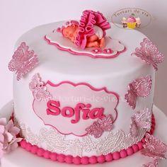 Torturi - Viorica's cakes: Tort botez pentru Sofia