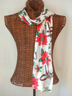 Herbs Crafts Gifts: Winter Holiday / Christmas Scarves