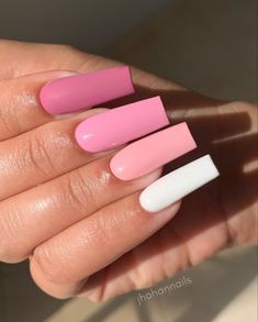 18 Manicure İdeas For Short Nails Summer Palm Trees Bling Acrylic Nails, Simple Acrylic Nails, Best Acrylic Nails, Bling Nails, Stiletto Nails, Coffin Nails, Long Square Acrylic Nails, Long Square Nails, Peach Nails