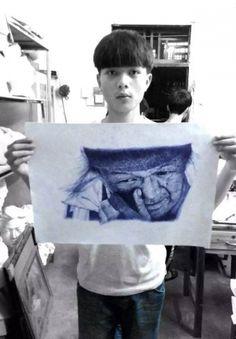 """เด็กวัย 16 วาดรูปในห้องจนโดนครูด่า """"เสียใจแทนพ่อแม่"""" แต่พอเห็นสิ่งที่เขาวาดถึงกับพูดไม่ออก!"""