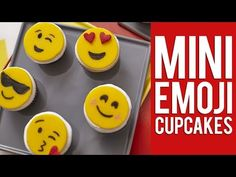 How to Make Emoji Mini Cupcake Toppers - YouTube