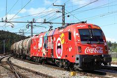 Slowenische Staatsbahn  Coca Cola Werbung