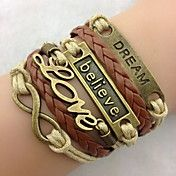 Classic Bronze LOVE Leather Wrap Bracelet(1 P... – USD $ 2.99
