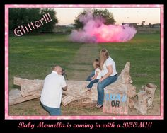 #genderrevealphotosession #genderreveal #gunsorglitter #on-sitephotography.com Fun ideas for Gender Reveal with Tannerite and colored chalk