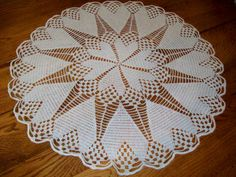 Large Crocheted Heart Doily