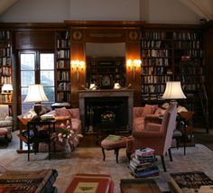 Library of cosmopolitan club, London. Elegant and charming, the Library is among the Club's most popular rooms. The perfect backdrop for book clubs, receptions and dinners, it is also favored by many hosting smaller, more intimate affairs.