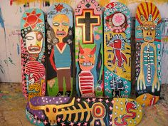 Skateboard art by Ajumma - Skateboard look great on the wall and Teens will love the juxtaposition!