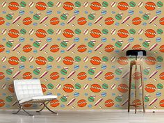 Design #Tapete Strandfreuden Orange