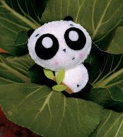 Molde Oso Panda de Fieltro