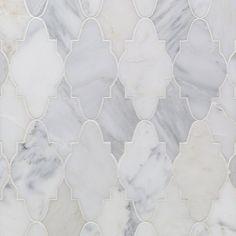 Odeza Stonington Marble Tile - Arabesque Tile - Shop By Tile Shape and Pattern Stone Mosaic Tile, Marble Mosaic, Mosaic Tiles, Wall Tiles, Backsplash Tile, Grey Marble Tile, Gray Tiles, Arabesque Tile, Marble Polishing