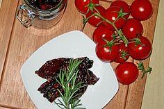 Marinierte Tomaten Tomaten mit Rosmarin, Balsamico und Knoblauch