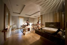 •#Turkish #Bath(Hamam) •#Treatment #Roomsı •#MassageRooms • Facial and body treatments • #Sauna Turkish Bath, Wellness Spa, Body Treatments, Antalya, Conference Room, Facial, Hotels, Table, Furniture