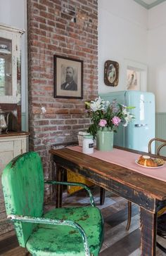 Perfect, through & through |||House Tour: A New Orleans Shotgun With Vintage Charm | Apartment Therapy