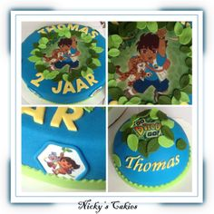 Diego taart #Diego #godiegogo #dora #taart #cake