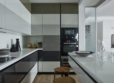 Amenajare contemporană în gri și verde pentru un apartament de 160 din Moscova m² Jurnal de design interior