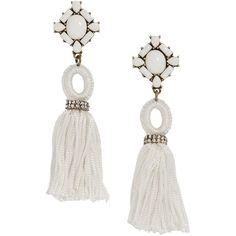 Baublebar Sohvi Tassel Drop Earrings ($38) ❤ liked on Polyvore featuring jewelry, earrings, baublebar jewelry, tassel jewelry, fringe tassel earrings, tassle earrings and baublebar