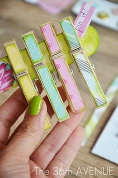 DIY Clothespins Tutorial. Easy and cute!