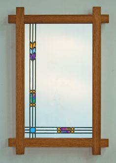 mission+style+mirror | The same Mission style mirror w/oak wood frame.
