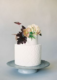 Textured wedding cakes are the latest wedding cake trend we're loving. See how bakers designed textured and embossed wedding cakes for real couples big-day dessert, then get inspired to create your own. Textured Wedding Cakes, Big Wedding Cakes, Wedding Cake Fresh Flowers, Floral Wedding Cakes, Beautiful Wedding Cakes, Wedding Cake Designs, Wedding Desserts, Beautiful Cakes, Modern Wedding Cakes