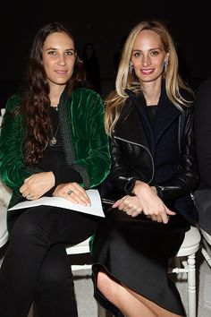 Tatiana Casiraghi and Lauren Santo Domingo attend the Giambattista Valli show as part of Paris Fashion Week Haute Couture Spring/Summer 2015 on...