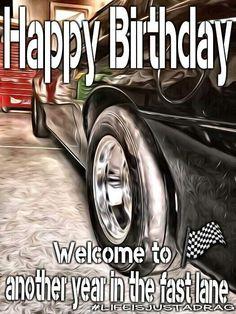 Happy Birthday Race Car Racecar O. for Man<br> Happy Birthday My Brother, Happy Birthday Wishes For Him, Birthday Cheers, Birthday Blessings, Happy Birthday Images, Happy Birthday Greetings, Birthday Memes For Men, Birthday Quotes For Him, Humor Birthday