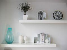 desire to inspire - desiretoinspire.net - Flickr finds - Ikea's Lack floating shelves