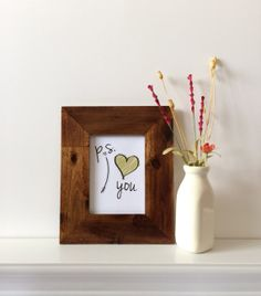 P.S. I Love You 5x7 Print on Canvas by lovingLeighYours, $12.00