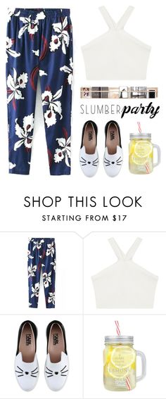 """""""Sleep on It! Slumber Party Style"""" by bliznec-anna ❤ liked on Polyvore featuring BCBGMAXAZRIA, Karl Lagerfeld, slumberparty, polyvoreeditorial, polyvorecontest and polyvorefashion"""