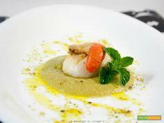 Crema di zucchine con capesante scottate  #ricette #food #recipes