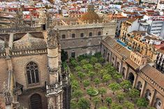 Court of the Oranges inside Cathedral of Seville, Spain was Originally the Patio of an Ancient Mosque
