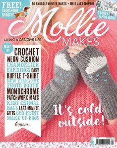 Mollie Makes issue 74 templates - Mollie Makes Bobble Stitch Crochet, Easy Crochet Stitches, Crochet Squares, Mollie Makes, Free Mandala Crochet Patterns, Free Crochet, Quilting, Crochet Magazine, Wrist Warmers