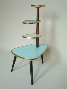 1950s plant stand tripod 50s 60s mid century Danish modern display vintage retro