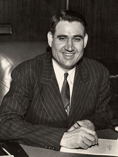 """October 9, 1908: Two-term Alabama governor James """"Big Jim"""" Folsom is born in Coffee County. Folsom, known for farm-to-market road paving and other programs to benefit Alabama's common folk, served as governor from 1947-1951 and 1955-1959."""