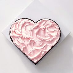 """Make your #valentinesday Instagram ready. Search for """"easy heart-shaped cake"""" on marthastewart.com for the recipe!  #marthabakes  by @krautter"""