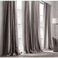 linen curtain with velvet border - Google Search