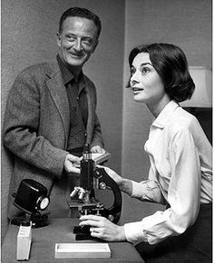The Nun's Story director Fred Zinnemann and Audrey on the set. Audrey Hepburn Estate Collection.