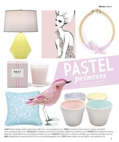 Pretty pastel product page featured in the Jun/Jul 2012 edition of Adore Home magazine. Check it out on page 13. www.adoremagazine.com/read